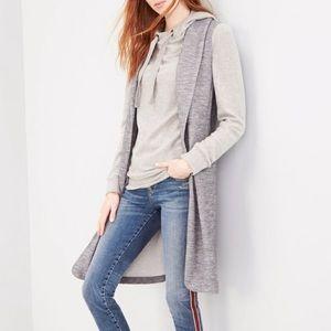 Halogen   Long Grey Vest Knit Jacket w/ Pockets